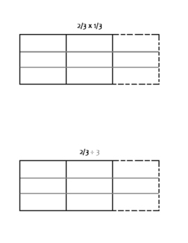 Multiply and Divide Fractions with Models Resource