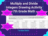 Multiply and Divide Integers Drawing Activity (Single and
