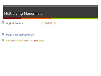 Multiply and Divide Monomials