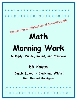 Multiply and Divide Morning Work