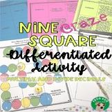 Multiply and Divide Multi-Digit Decimal Numbers Nine Square Craze