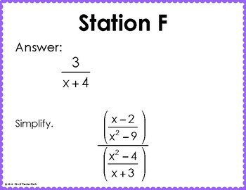 Multiply and Divide Rational Expressions Scavenger Hunt