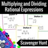 Multiply and Divide Rational Expressions Scavenger Hunt