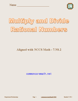 Multiply and Divide Rational Numbers - 7.NS.2