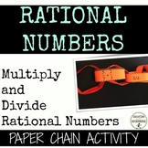 Multiply and Divide Rational Numbers Paper Chain Activity