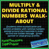 Multiply and Divide Rational Numbers Walk-About Activty
