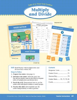 Multiply and Divide (Take It to Your Seat Centers Common Core Math)