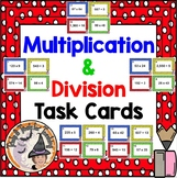 Multiply and Divide Task Cards Multiplication Division Stations