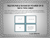 Multiply and Divide Using Powers of 10 Task Cards for 5th Grade