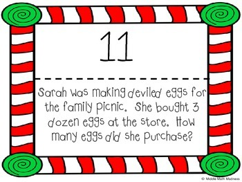 Multiply and Divide Whole Numbers Scavenger Hunt- Holiday Theme