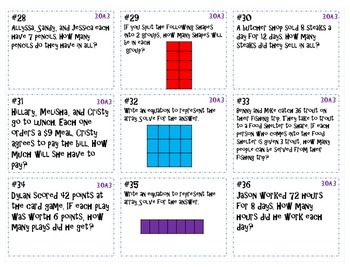 Multiply and Divide Whole Numbers Task Cards/Game Board ~CCSS 3.OA.3 ~