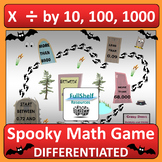 Multiply and Divide by 10 100 1000 Game (Halloween)
