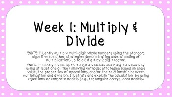 Multiply and Divide by One-Digit Numbers