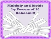 Multiply and Divide by Powers of 10 Game { Math Center }