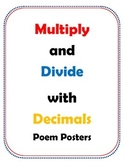 Multiply and Divide with Decimals Poem Poster