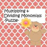 Multiply and Dividing Monomials Puzzle