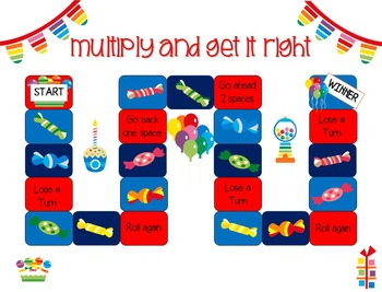 Multiply and Get It Right-Multiplication Fact Cards and Teaching Worksheets