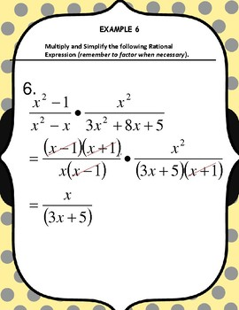 HOW TO MULTIPLY AND SIMPLY TWO OR MORE RATIONAL EXPRESSIONS