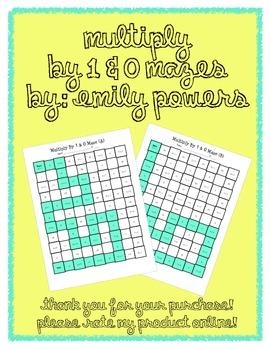 Multiply by 1 & 0 Math Maze Worksheet