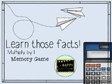 Multiply by 1 Memory Game