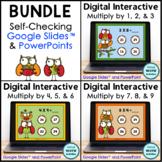 Digital Interactive Multiplication Practice BUNDLE | Dista