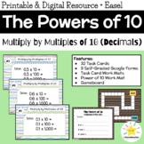 5th Grade Math: Multiplying Decimals by 10, 100, 1000 (Digital Google Forms)