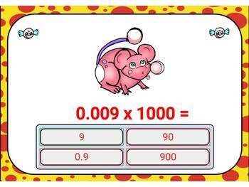 Multiply by 10, 100, and 1000. Digital Boom Cards for Place Value and Decimals.