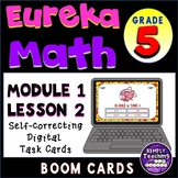 Multiply by 10, 100, and 1000 Digital Boom Cards Eureka grade 5 unit 1 lesson 2