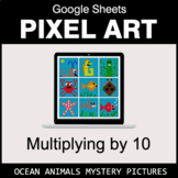 Multiply by 10 - Google Sheets Pixel Art - Ocean Animals
