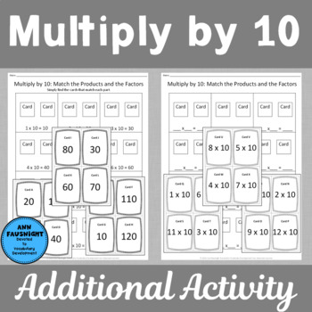 Multiply by 10 Scavenger Hunts and Matching Center