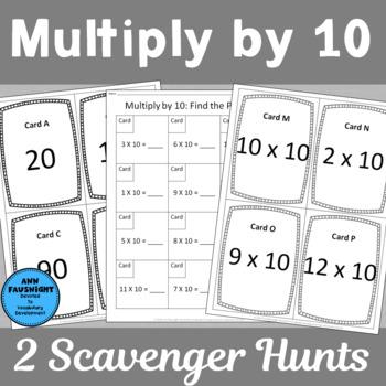 Multiply by 10 Scavenger Hunts