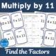 Multiply by 11 Scavenger Hunts and Matching Center