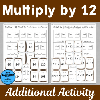 Multiply by 12 Scavenger Hunts