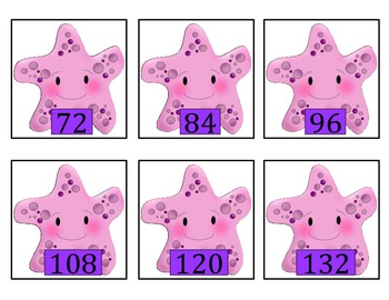 Multiply by 12's - Starfish  Learns to multiply by 12's!