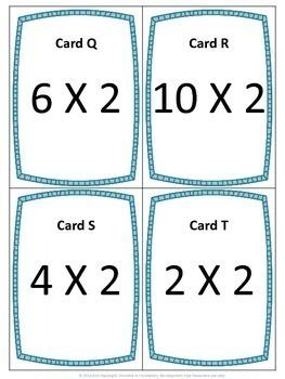 Multiply by 2, 3, 4, 5, and 6 Scavenger Hunts Bundle