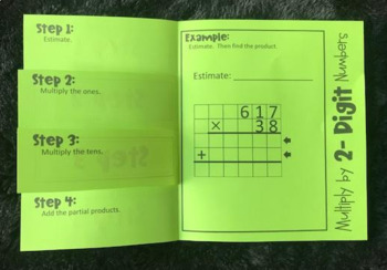 Multiply by 2- Digit Numbers (Foldable)