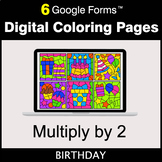 Multiply by 2 - Google Forms | Digital Coloring Pages
