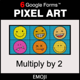 Multiply by 2 - Pixel Art Math   Google Forms