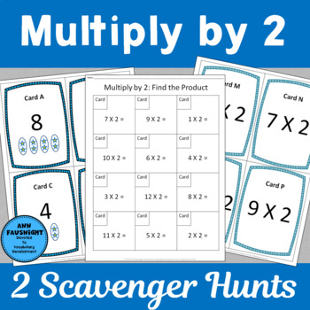 Multiply by 2 Scavenger Hunts