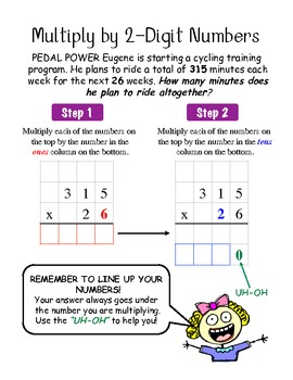 Multiply by 2-digit numbers: Scaffolded Notes and Game
