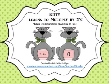 Multiply by 2's - Kitty Learns to multiply by 2's!