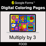 Multiply by 3 - Google Forms | Digital Coloring Pages