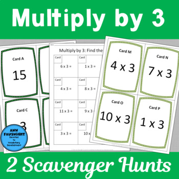 Multiply by 3 Scavenger Hunts
