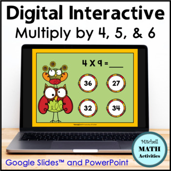 Multiply by 4, 5, and 6 Interactive PowerPoint - Fall Edition