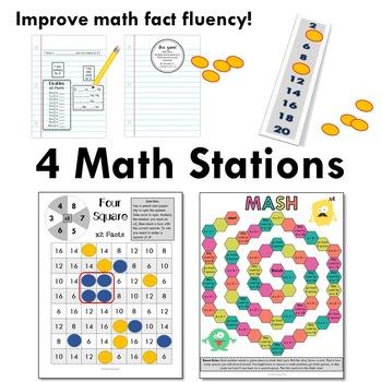 Multiply by 4 - Math Workshop Kit