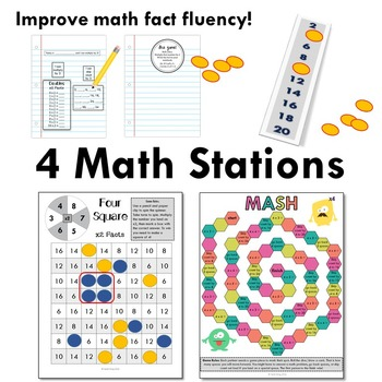 Multiply by 4 - Math Workshop Mini Lessons, Games, and Independent Tasks