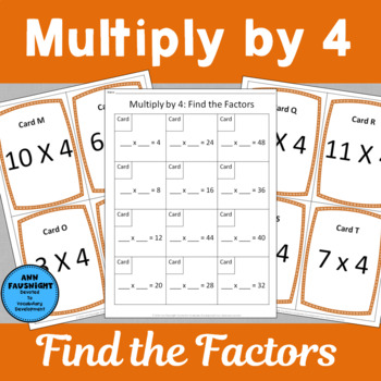 Multiply by 4 Scavenger Hunts
