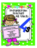 Multiply by 4s Practice CCSS Multiplication Strategies!!