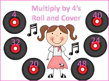Multiply by 4's Roll and Cover