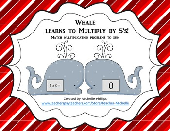 Multiply by 5's - Whale Learns to multiply by 5's!